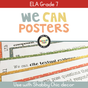 ELA Standards We Can Posters 7th