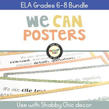 We Can Statements ELA Grades 6 - 8