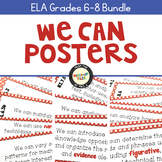 ELA Standards We Can Posters 6-8 Bundle