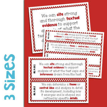 ELA Standards We Can Posters 9-10
