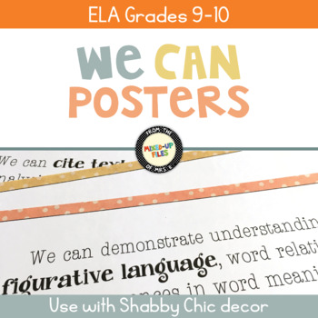 We Can Statements ELA Grades 9 - 10