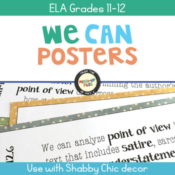ELA Standards We Can Posters 11th - 12th