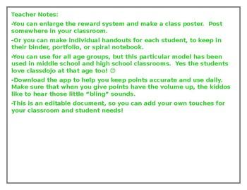 We Class DoJo-Editable