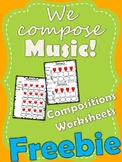 We Compose Music Composition Worksheets [Freebie]