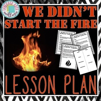 We Didn't Start the Fire Activity - Perfect Lesson for the
