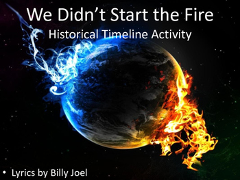 We Didn't Start the Fire, by Billy Joel - Timeline Activity