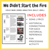 We Didn't Start the Fire: Cold War Song Analysis (Common C