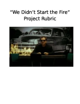 """""""We Didn't Start the Fire"""" Project Rubric"""