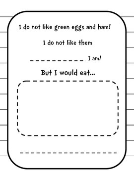We Do Not Like Green Eggs and Ham Class Book