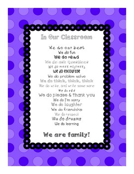 In Our Classroom, We Do Inspirational Poster  (purple)