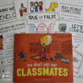 We Don't Eat Our Classmates   Book Study, Class Book, Craftivity