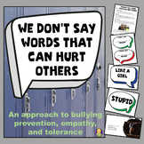 We Don't Say Words That Can Hurt Others Classroom Lesson