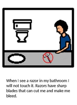 We Don't Touch Razors Social Story