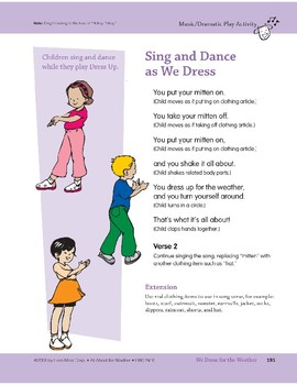 We Dress for the Weather: Center Activity and Song