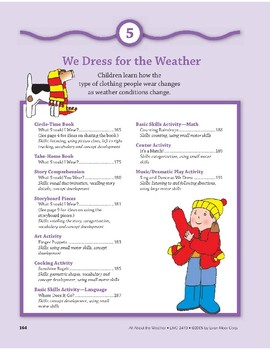 We Dress for the Weather: Language and Math Activities