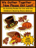 Thanksgiving Reading Activities: We Gather Together Activity Packet - Color