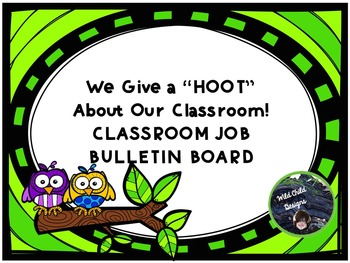 Job Bulletin Board for Back-to-School: Owl-Themed