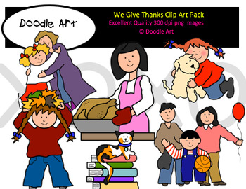 We Give Thanks Clipart Pack