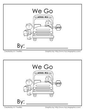"""We Go"" Emergent Reader"