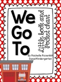 """We Go To"" Little Book & Pocket Chart Set"
