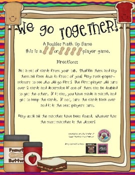We Go Together! A Doubles Matching Game