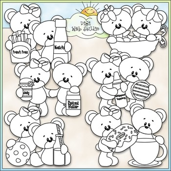 We Go Together Bears Clip Art - Teddy Bear Clip Art - CU Clip Art & B&W