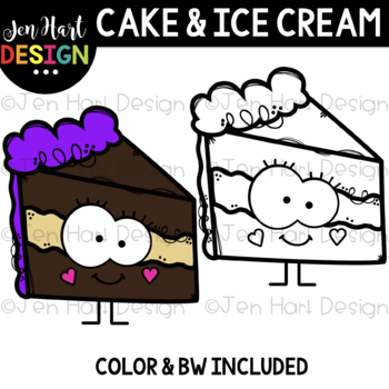 We Go Together Clipart- Cake and Ice Cream {jen hart Clip Art}