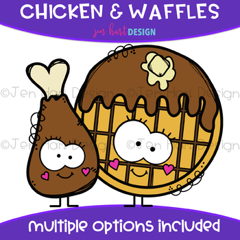 We Go Together Clipart- Chicken & Waffles {jen hart Clip Art}