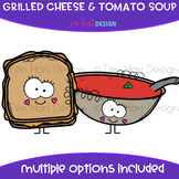 We Go Together Clipart- Grilled Cheese and Tomato Soup {je