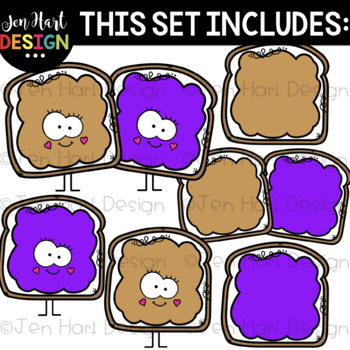 We Go Together Clipart- Peanut Butter and Jelly {jen hart Clip Art}