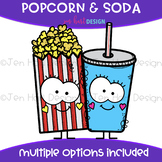 We Go Together Clipart- Popcorn and Soda {jen hart Clip Art}