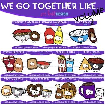 We Go Together Clipart- Spaghetti & Meatballs {jen hart Clip Art}