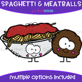 We Go Together Clipart- Spaghetti & Meatballs {jen hart Clip Art}