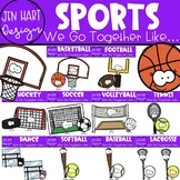 We Go Together Clipart- Sports Growing Bundle {jen hart Clip Art}