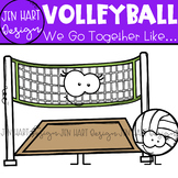 We Go Together Clipart - Sports - Volleyball {jen hart Clip Art}