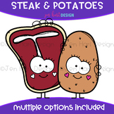 We Go Together Clipart- Steak and Potatoes {jen hart Clip Art}
