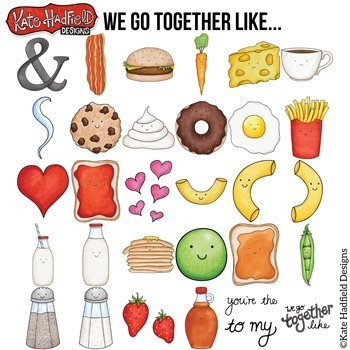 "Food Pairs Clip Art 1: ""We Go Together"""
