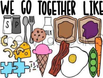 We Go Together Like.. Digital Clip Art Set