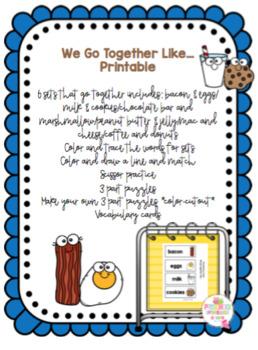 We Go Together Like... Printable