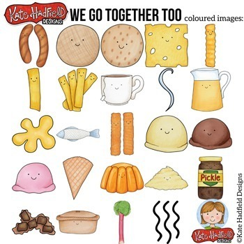"""Food Pairs Clip Art 2: """"We Go Together Too..."""""""