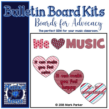 We HEART Music because... Bulletin Board Kit