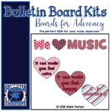 We HEART Music because... Bulletin Board Kit