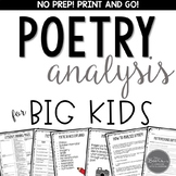 Poetry Analysis Bundle for Grades 4-8