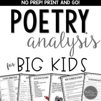 We HEART Poetry!  A Poetry Analysis Bundle for Grades 4-8