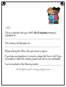 We Have A Meeting! (Special Ed. Reminder Notes)