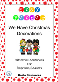 We Have Christmas Decorations  Easy Reader Patterned Sentences for Beginners