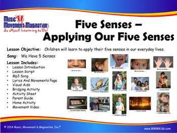 We Have Five Senses Song Mp3, Visuals, Activities & More!