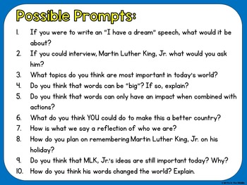 We Have a Dream! Our Big Words: Printables for a Quick & Easy MLK, Jr. Display