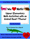 We Heart Math: Animal Activity Pack (Great for Valentine's Day!) 3rd, 4th, 5th