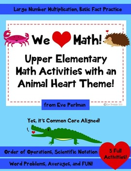We Heart Math: Animal Activity Pack (Great for Valentine's